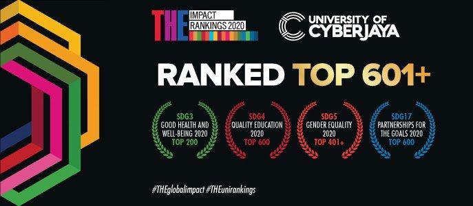 ترتيب جامعة cyberjaya